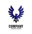 falcon eagle bird color logo vector image vector image