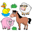 farm animals collection 5 vector image