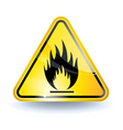 flammable sign vector image vector image