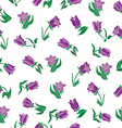 Floral design with purple flowers vector image