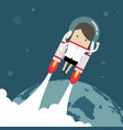 flying businesswoman with jetpack vector image vector image