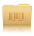 Folder with Bar Code vector image vector image