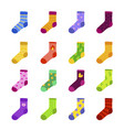 funny colorful socks flat set vector image vector image