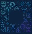 genetics outline blue square vector image vector image
