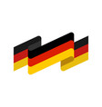 germany flag isolated german ribbon banner state vector image vector image