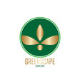 green scape logo design vector image vector image