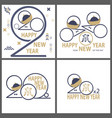 happy new year 2020 greeting card chinese vector image vector image
