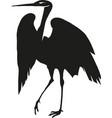 heron silhouette eps 10 vector image vector image