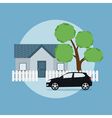 home and car vector image