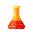 icon chemical test tube in flat style vector image