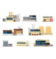 industrial factory and manufacturing plant vector image vector image