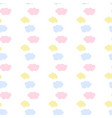 kids seamless pattern with clouds vector image