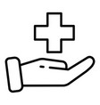 medical care icon outline style vector image vector image