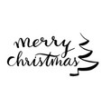merry christmas greeting words in lettering vector image
