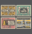 naval museum lighthouse yachting club vector image vector image