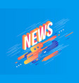 news isometric gradient text design on abstract vector image vector image