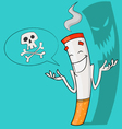Nicotine is death vector image vector image