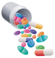 Pills and capsules vector image