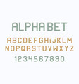 poster font and alphabet vector image vector image