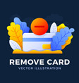 remove credit card stock isolated on a dark vector image vector image