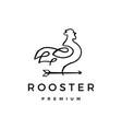 rooster arrow logo icon vector image vector image