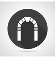 Round arch black icon vector image vector image