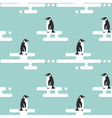 Seamless pattern with penguins standing on vector image
