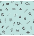 Seamless science pattern vector image
