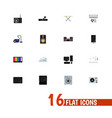 set of 16 editable technology icons includes vector image