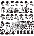 set of silhouettes accessories Art Nouveau vector image