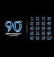 set premium anniversary logotype silver vector image vector image