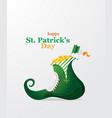 st patricks holiday greeting card poster design vector image vector image