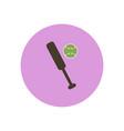 stylish icon in color circle ball baseball bat vector image vector image