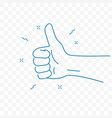 thumb up best hand gesture doodle icon vector image vector image