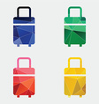travel bag icon Abstract Triangle vector image vector image