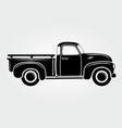 vintage pickup truck retro transport vehicle vector image vector image