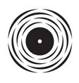vinyl record logo vector image vector image