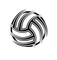 volleyball abstract symbol outline background vector image vector image