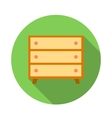 Wooden chest icon flat style vector image
