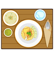 yellow rice vector image vector image