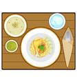 yellow rice vector image