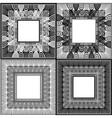 Zen Tangle Frames2 vector image vector image