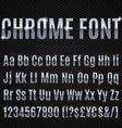 Chrome font vector image