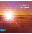 Abstract Summer Sunset Background vector image