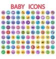 Baby flat icon set vector image vector image