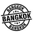 bangkok black round grunge stamp vector image vector image