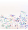 beautiful abstract florals with ink spots vector image