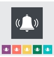 Bell flat icon vector image vector image