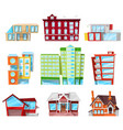 building facade of house in cityscape vector image vector image