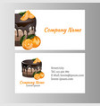 business card template for bakery business vector image vector image